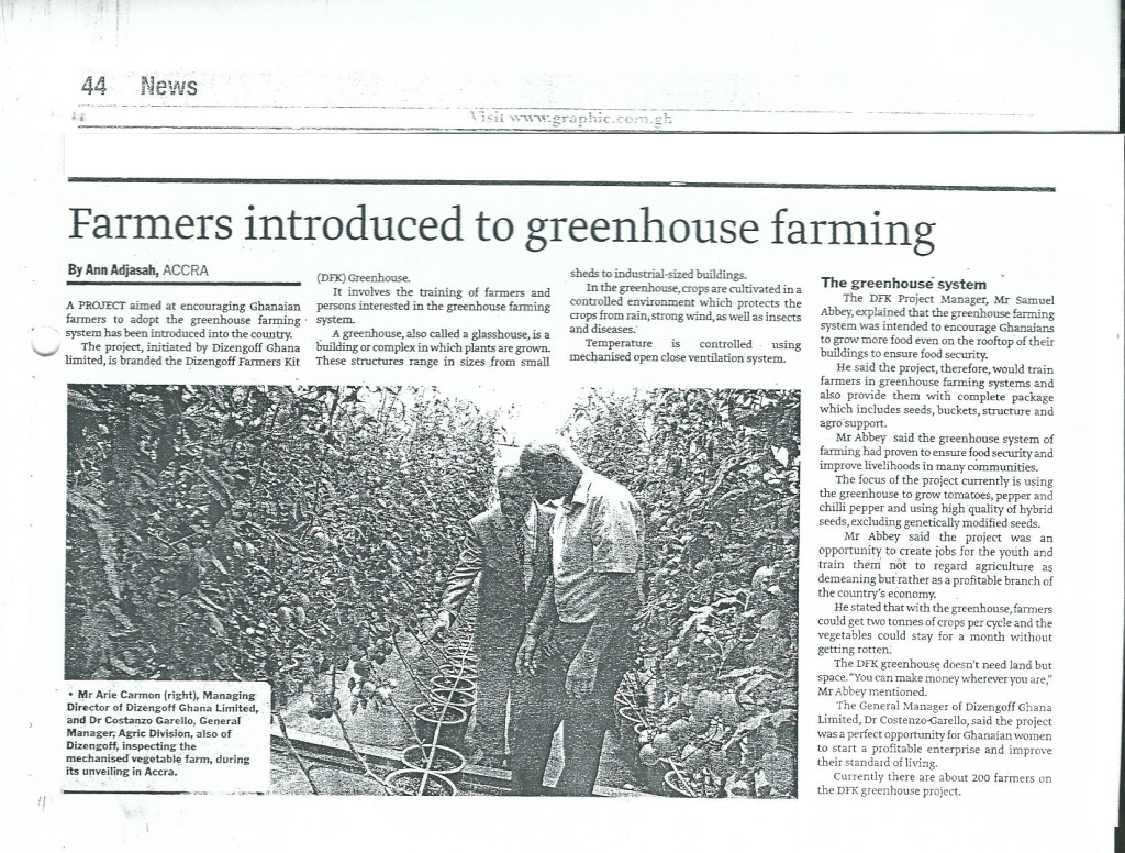 Daily-Graphic---farmers-introduced-to-Greenhouse-farming---October-2014